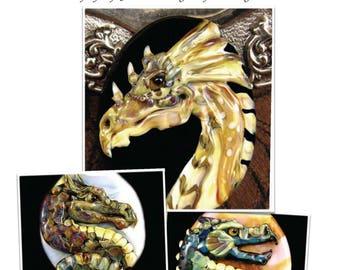 NEW Tutorial Dragon Lampwork Bead by Kerribeads - Instant Download PDF file
