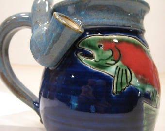 Trout  * Smaller Version * Wake and Bake  Mug....  MUG and a PIPE.... AWESOME !!!  ..   e890
