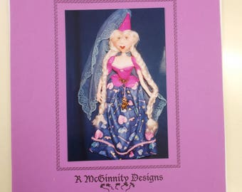 Soft Sculpture Doll Pattern, Princess or Fairy Doll Pattern, Damsel Doll Pattern, R McGinnity Designs Australia