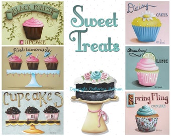 Sweet Treats Cupcakes Print