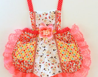 Sweet Kitty  Apron, toddler apron, accesories, apron, dress up, costume