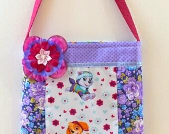 Paw Patrol Purse, floral purse, toddler purse, girls purse