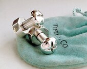 Tiffany & Co cuff links, Nuts and Bolts, Sterling Silver, Industrial style