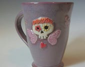 RESERVED for Martha  Fun & Quirky Coffee mug with sugar skull