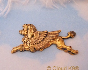 Poodle Angel Pin. Poodle Jewelry. (Guardian Angel Dog Brooch Pin). French Poodle. Pet Loss, Pet Memorial Sympathy Gift.Remembrance Keepsake
