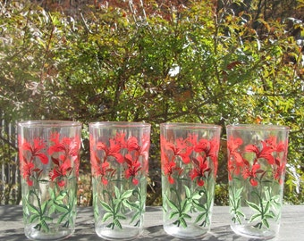 Four Vintage Beverage Glasses - Eight Ounce Tumblers