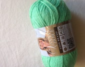 Lion Brand Vanna's Choice worsted weight in green mint, destash yarn