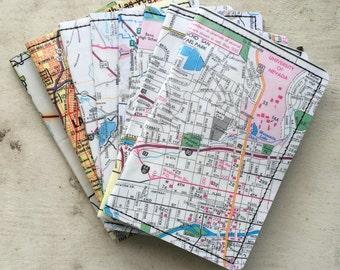Slim Wallet- Vintage map of Nevada, Reno, Las Vegas- choose 1