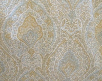 Fabric - Kravet - Hoorah, Light Blue, Tan, White, Sewing, Upholstery, Pillow covers, Quilting, Home Decor