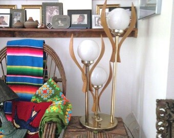 Danish Mod Tabel Lamp Mid Century VIntage Brass Lamp