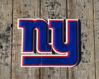 New York  Giants 3D LASER PRINTED