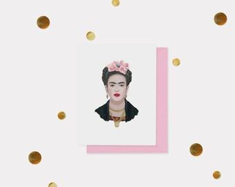 Frida Kahlo Blank Card - All Occasion Card - Blank Card - Friendship Card - Everyday Card - Celebrity Card - Funny Card - Art Card