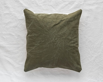 Vintage Army Canvas Pillow