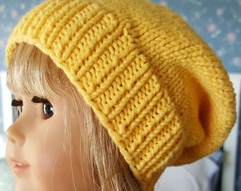 Hand Knit Slouch Hat for the American Girl Doll    18 inch