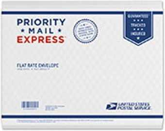 EXPRESS mail shipping (Use FREESHIP coupon code to offset other shipping charges)