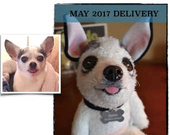 Custom Stuffed Animal Pet - Pet Loss Gift - Dog Memorial - Cat Memorial - Made to Order Pet Replica - MAY 2017 Delivery