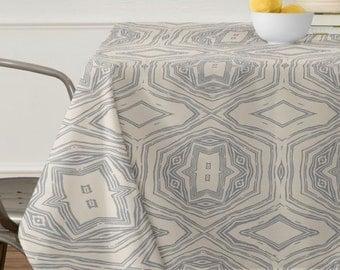 Anthology of Pattern Seville Marble Grey Tablecloth