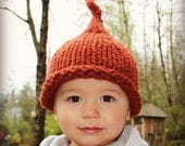 Pixi or elfin hat, handknit and warm