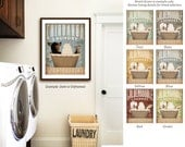 Chihuahua dog laundry basket laundry room art vintage style artwork by Stephen Fowler Giclee Signed Print