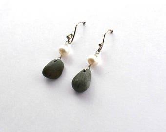 River rock earring