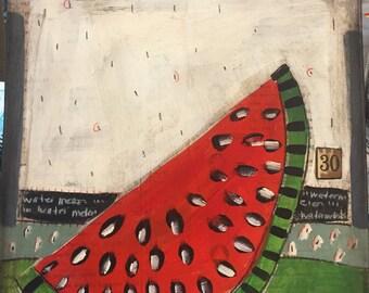 Watermelon 30  - Folk art-