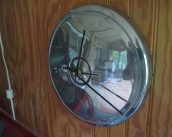 Vintage Opel Hubcap Wall Clock - Repurposed Home Decor - Classic Car - Kadet