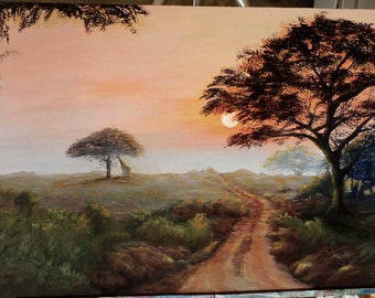 "Original 12"" x 24"" acrylic on canvas"