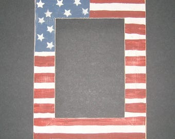 Flag Picture Frame 5x7 or 8x10