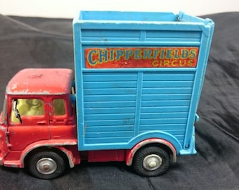 Vintage Corgi Chipperfield Circus Giraffe Transporter Bedford Diecast Truck Toy