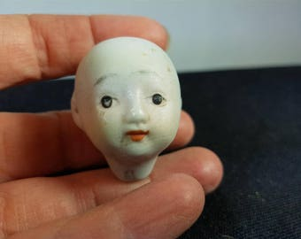 Antique Bisque Porcelain Japanese Doll Head