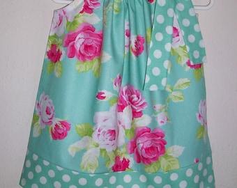 Pillowcase Dress Spring Dress with Roses Sadie's Dance Card Jade Dress Floral Dress Tanya Whelan Easter Dress Spring Clothes Premium Fabric