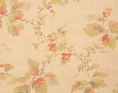 1930s Vintage Wallpaper by the Yard - Antique Wallpaper Leaves and Flowers