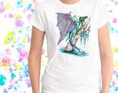 Ladies T-shirt Lacewing Swamp Dragon Tangle Art Sizes XS-2X
