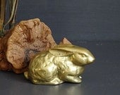 Brass Rabbit Figurine Brass Bunny Spring Decor Easter Decor