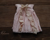 Melacacia dress in hand-dyed pale peach ~ for Blythe
