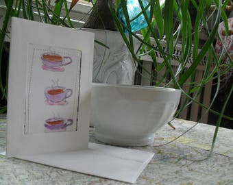 I Love Coffee/Tea greeting card ATC OOAK ACEO
