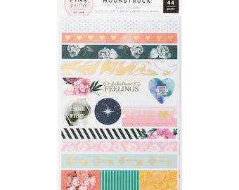 Moonstruck Washi Sticker Sheets 3/Pkg Pink Paislee (310491)