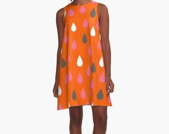Woman Dress, Red dress, Modern Dress,  Drops Dress, A line Dress, Women dress, Dress, Girl Dress, summer dress, Gifts for her