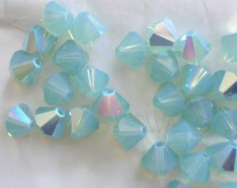 20 PAcific Opal AB Swarovski Beads Bicone 5328 6mm