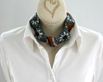 Necktie Choker - Womens Tie - Statement Necklace - Neckties For Women - Hipster Clothing - Spice Colored Necktie. 05