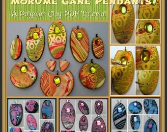 HALF OFF SALE Mokume Gane Pendants and Earrings,  A Polymer Clay Pdf Tutorial, Diy Jewelry