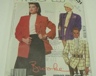 Easy McCall's Misses' Jacket Pattern 2631 Size 10, 12, 14