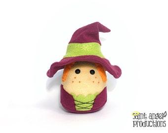 Stuffed Kawaii Witch Plushie, Plushoween, READY TO SHIP
