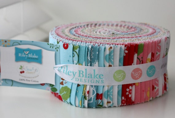 SALE SEW CHERRY 2 Jelly Roll 2.5 inch strips fabric by Riley Blake from Lori Holt