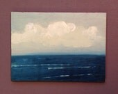 ACEO 1629, landscape, oil painting, original, ACEO, miniature art, 100% charity donation, oil painting on cardboard