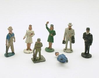 Vintage Lead Miniatures Figurines People Soldier