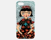 Phone Case - iphone - samsung - Frida Papillon - Frida Kahlo - blue