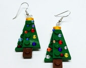 Mini Christmas Tree Dangle Earrings
