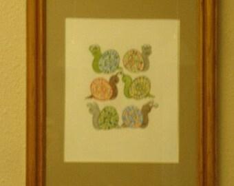 Buggy Eyed Snails KB Exquisites Print Art 8 x 10