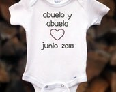Spanish Pregnancy Announcement Pregnancy Reveal to Grandparents Baby Announcement to Abuelo y Abuela  Announcement Ideas Baby Reveal
